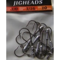 Jigheads 10pc Bullets 1/16oz