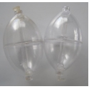 Bubbles Oval Lg Clear x 2pc