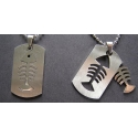Fish Insert Pendant s/s - 1 left!
