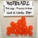 Egg Beads 8mm x 20pc Orange Frosted