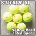 Rig Float Beads Yellow Spotted